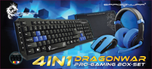 Dragonwar 4 in 1 Pro-Gaming Box-Set Azerty Blue Edition